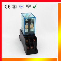 omron LY2 relay (5Pcs) LY2NJ JQX-13F high quality 12v 24v dc 220v ac 10a electronic micro mini relays w/ with socket base holder