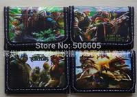 1200pcs/lot Teenage mutant ninja turtles figure toy doll wallet purse for kids children wallet students purse notecase