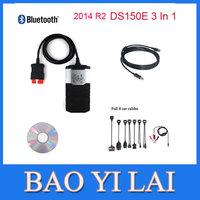 2014 02 R2 New VCI DS150e CDP PRO Plus TRUCK with Bluetooth+8 pcs cable Car Auto automotive OBD OBDII Scanner Diagnostic tools
