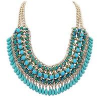 New 5 color  big gem necklaces& pendants Trendy fashion bubble bib choker chunky statement necklace women jewelry XL-192