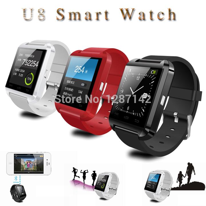New Year Chrismas Gift Bluetooth Smart Watch WristWatch U8 U Watch for iPhone&Samsung HTC Android Phone Smartphones(China (Mainland))