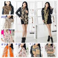 20 styles New Fashion autumn Stylish Girl women  winter warm Tassel Chiffon silk Scarf Shawl Scarve
