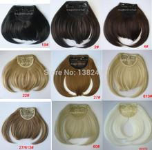 Frente cabelo bangs extensão grampo no estrondo do cabelo fibra de resistência ao calor cabelo sintético fringe lady mulheres menina do cabelo bonito franja franja(China (Mainland))