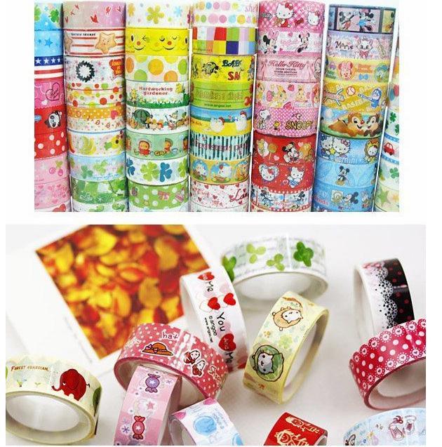 free shipping 10 pcs Kawaii Decor tape lovely Cartoon Stationery DIY Making Sticker wholesale adhesive(China (Mainland))