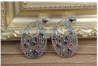 new arrival beautiful  fashional drop long earrings for girls elegant women water shape luxury long jewelry free shipping