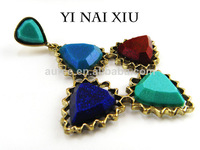 trendy  vintage earrings for women gold plated earrings fashion design rich color high quality  free shipping