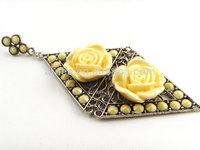 New item long Golden earring rose flower earring for women  dangle high quality  Free shipping