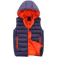 New arrival autumn winter candy color male vest fashion hooded mens vest 5 colors M--3XL