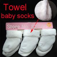 16PCS=8pairs free shipping newborn infant cute baby socks unisex warm brand infant winter 100%  cotton towel meias sock