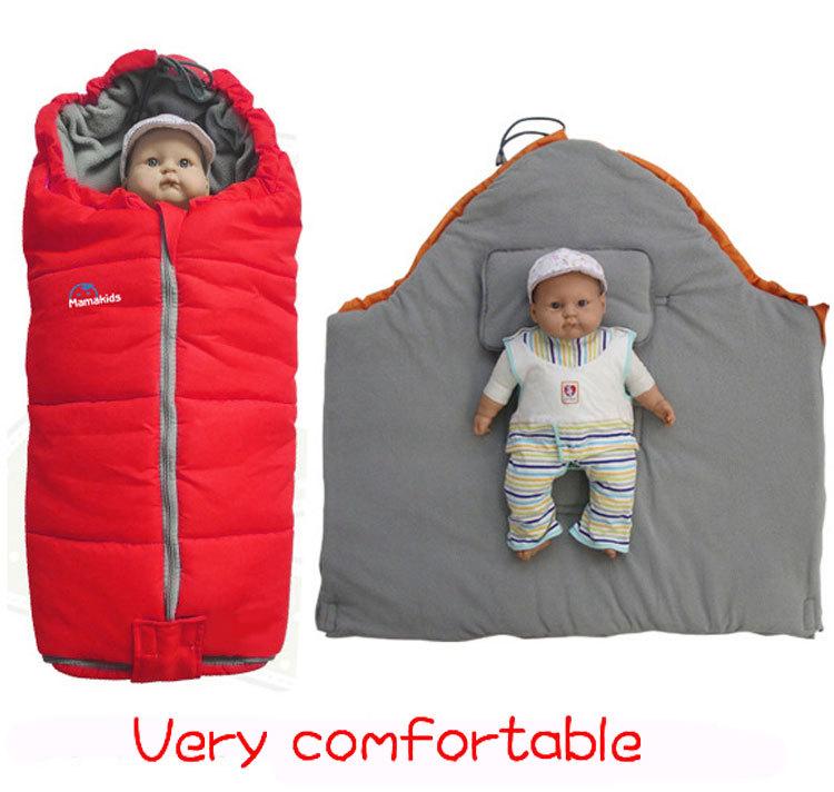 Зимний спальный мешок для новорожденного