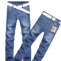 2014 Men's Jeans Straight  Warm Cotton Jeans Hot Sale Trousers Free Shipping MKN158