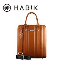 HABIK Original Men's Laptop Computer Leather Handbags Briefcase Notebook Tablet Shoulder Bag Case w Strap for Macbook 13″ 15″