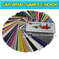 3D Carbon Fiber Matte Vinyl Wrap / Glossy Vinyl Wrap / Chrome Vinyl Wrap Sample book