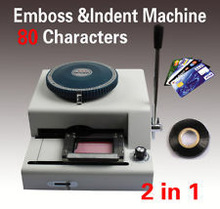 Guranatee 100% New PVC Plastic Card Embossing Press Machine, Card Embosser and Indent Machine-80Letters /0~9 of 10 italics codes