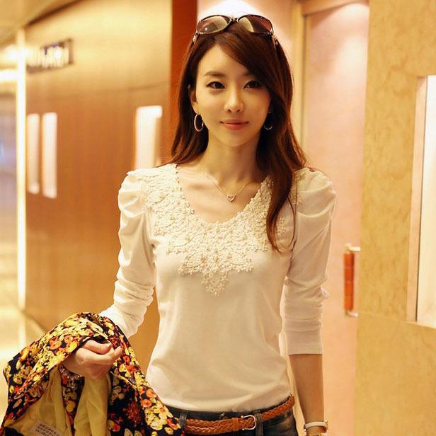 New 2014 plus size long sleeve casual women blouse blouses shirts tops clothes clothing feminina camisas femininas blusas roupas(China (Mainland))