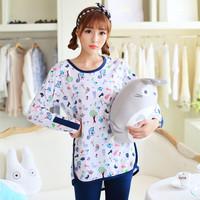 Autumn long-sleeve sleepwear women's long-sleeve sleepwear female modal casual lounge set--Free shipping