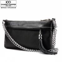 Genuine Leather Bags For Women Small Bag Day Shoulder Messenger Bags Carteiras Feminina Handbag Chains Tassel Ladies Handbags