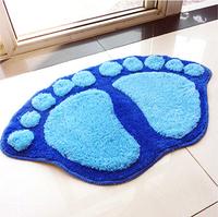 Free shipping 1pcs Hot Sale 4 colors Bath Mat Door Mat Bathroom Slip-Resistant Floor Rug Fashion Big Feet Mats 60*40CM BZ870584