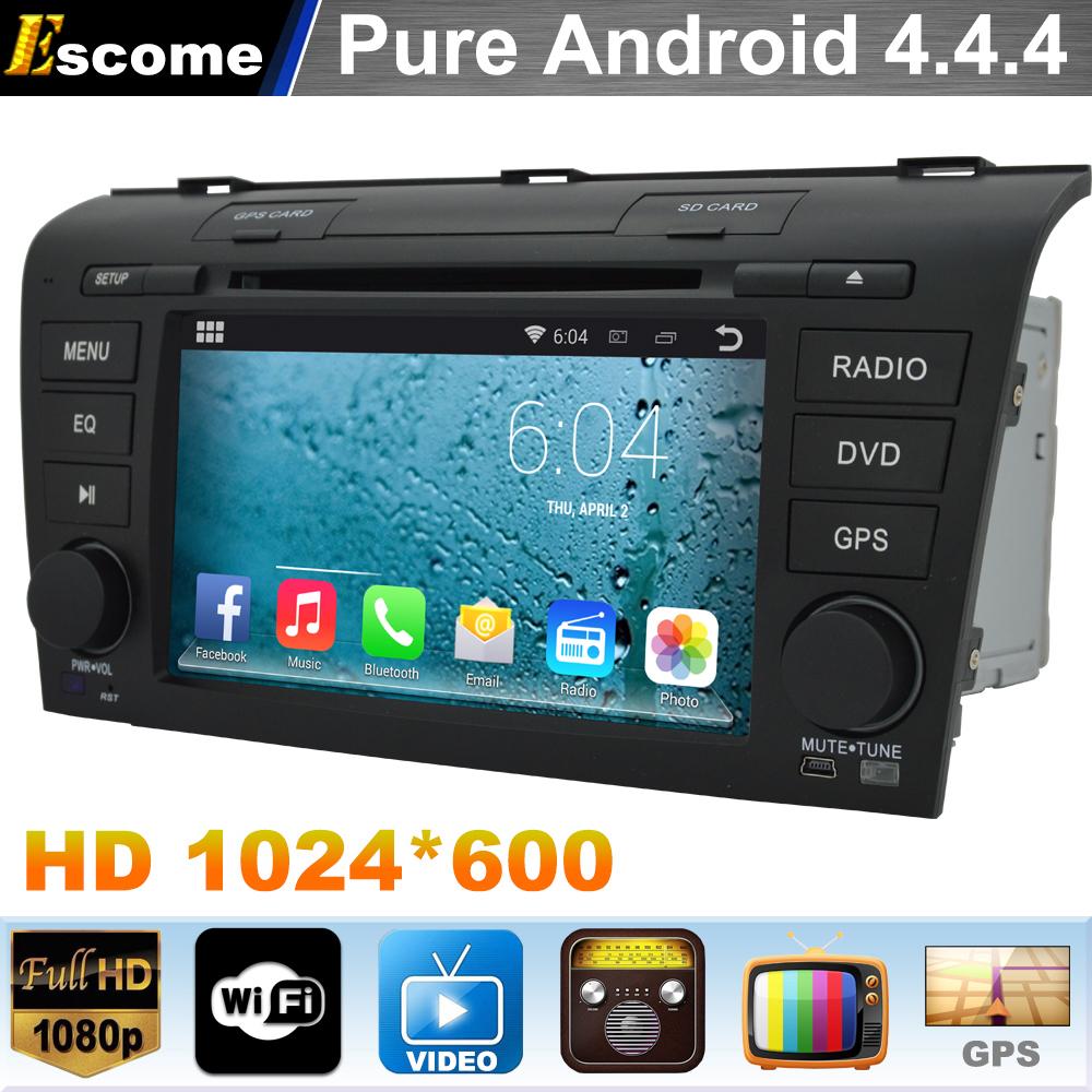 Pure Android 4.4 Car DVD Head Unit for Mazda 3 Mazda3 2004 2005 2006 2007 2008 2009 Capacitive 3G wifi Radio GPS Navigation(China (Main