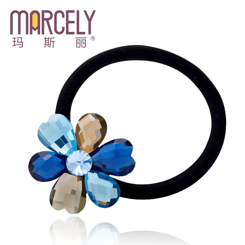 Hair accessory hair rope headband high-elastic rhinestone hairpin flower hair band (Min. order is 10$)(China (Mainland))