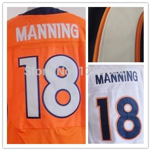 Broncos Peyton Manning Jerseys size 60 Stitched Logos American Football Jersey 18 Rugby Elite Blue Orange White Time 6-15days(China (Mainland))
