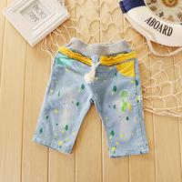 yangzi-109     2014 summer paragraph Korean boys and girls children's jeans denim pants wholesale spot color