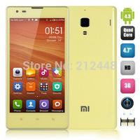 """Case&film free! Xiaomi hongmi 1S yellow,Xiaomi red rice 1s MSM8228 Quad Core, 4.7"""" IPS screen 1280x720, 1G RAM 8G ROM,WCDMA,GPS"""