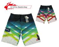 Quick Dry Beach Shorts Stripe Style Boys Gradient Stripe Style 2014 Kids Sport Short Surf Wear Summer Childrens Fit 8-14yrs 834