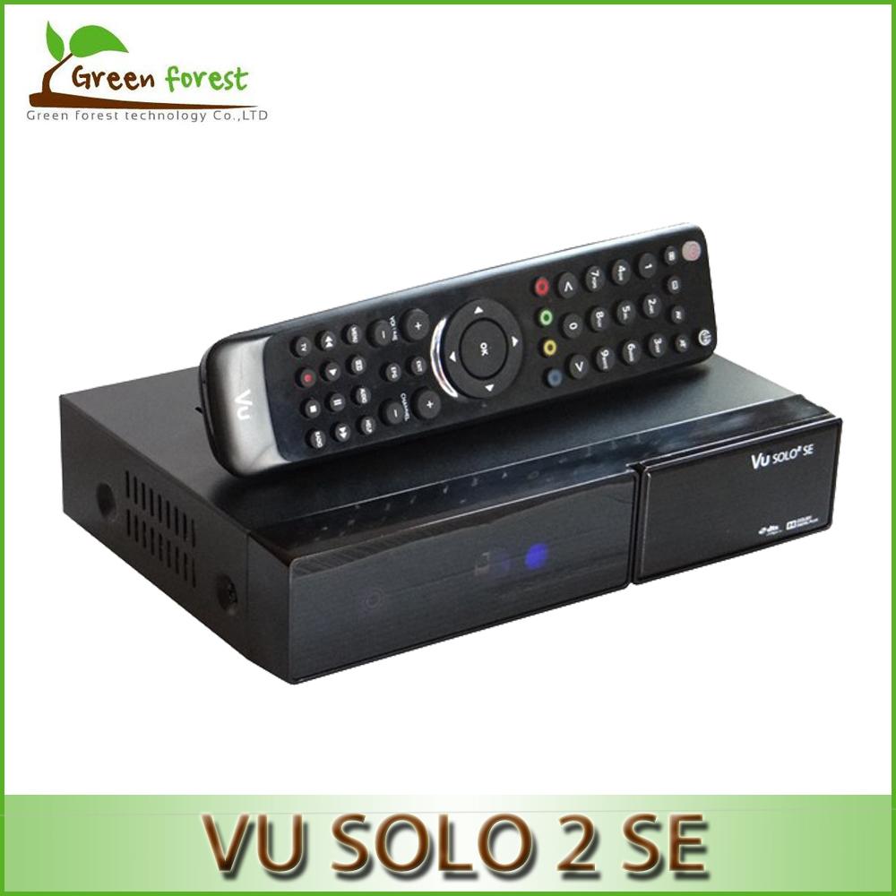 2pc/lot Vu Solo2 SE Twin Tuner Decoder Vu Solo 2 SE Linux Reciever 1300 MHz CPU 2 dvb-s2 Tuner STB digital satellite tv recever(China (Mainland))