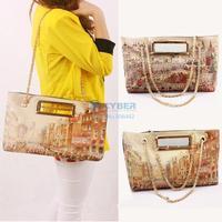 Newest 2014 women leather Messenger bags Graffiti Handbag Fashion Wild handbags Printing on one Shoulder Bag#10SV006497