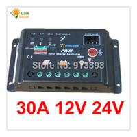 30A 12V 24V Auto intelligence Solar Charge Controller Regulator, SL02A 30A 30amps Wincong Solar regulator voltage adjustable