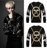 HipHop 2014 New Harajuku Versa Fashion men/women London BOY black GIv 3d print pullover hip hop Galaxy Sweatshirts Hoodies Tops