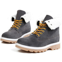 Fur Lining Men Warm Snow Boots EU 39-43 Cold Winter Outdoor Suede Leather Man Ankle Fashion Boots