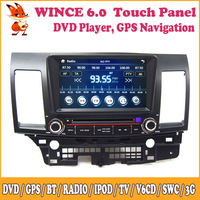 Wince Car DVD Player Support GPS 3G iPod Steering Wheel Control Bluetooth Radio Receiver Multimedia For Mitsubishi Lancer Ex