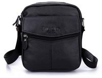 2014 New men messenger bag fashion famous brand genuine leather men's travel bags 2 colors B208