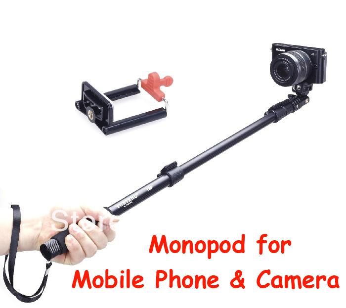 new handheld selfie stick autodyne holder yunteng 188 gopro monopod with clip holder for camera. Black Bedroom Furniture Sets. Home Design Ideas