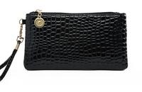 New fashion stone, crocodile texture, portable bag, women hand bag wrist bags, zipper purse, clutch purse wallet Hand carry bag