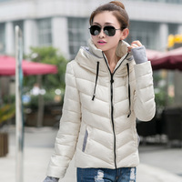 2014 Autumn and Winter Women's Stand Collar Jacket Slim Small Cotton-padded Jacket Short Design Wadded Lady Down & Parkas XXL