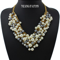2014 Luxury Women jewelry High quality Brand Pearl Necklaces & Pendants Necklace Collar Statement necklace