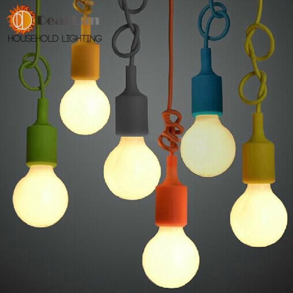 Kleurrijke hanglamp moderne vintage edison lampen bar restaurant