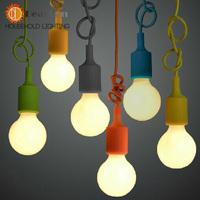 Colorful Pendant Lamp Modern Vintage Edison Bulbs Bar Restaurant Bedrooms Large Shopping mall Muuto E27 Art Pendant Lights