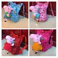 2014 Kids' Fashion Hot Sale Baby Cute Cartoon Peppa Pig Pepa George pig Backpack Children School Bag