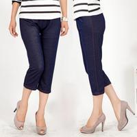 Breathable Design Lady Fashion Skinny Leggings Size L-XL Simple Style Solid Women Casual Elastic Waist Capris Pants