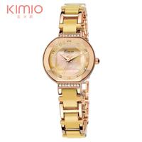 Luxury Brand Kimio Watch Women 2014 Ladies Luxury Quartz Bracelet Watches Women Dress Steel Watches Waterproofed