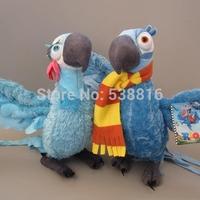 Free Shipping New 26cm Rio the Movie Toy Blu Jewel Plush Macaw Stuffed Cute Animal Bird Set of 2