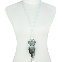 Free Shipping Alloy Feather Indian Dream Catcher Necklace Indian Dream Catcher Necklaces Whosale