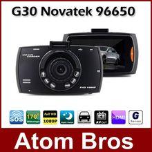 "G30 Novatek 96650 2.7"" Car DVR Camera Recorder Camcorder Full HD 1080P G-sensor Night Vision 170 Wide Angle SOS Motion Detection(China (Mainland))"