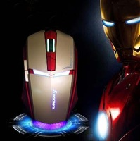 Free shipping SUNSONNY Iron Man style for 6D game Mouse ,HOT SELLING!