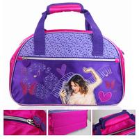 Womens bag of trip Girls Violetta Travel Duffle Tote Sport Gym Nylon Brand Travel Luggage Bags Hand Carry Print  Floral Purple