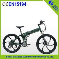 36v Magnesium Wheel Folding Electric Mountain Bike